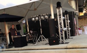 Package 2 with extra lighting, Band & DJ Sava Villa